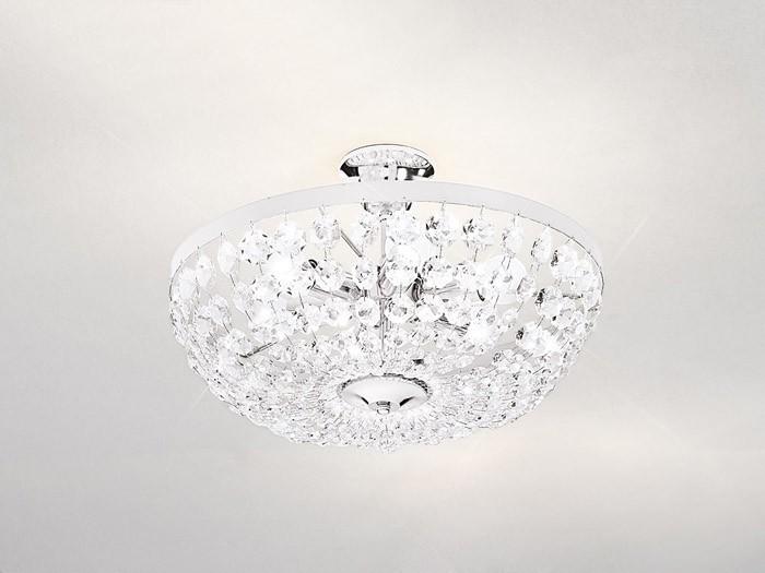 Lampa austriaca de plafon, placaj crom,