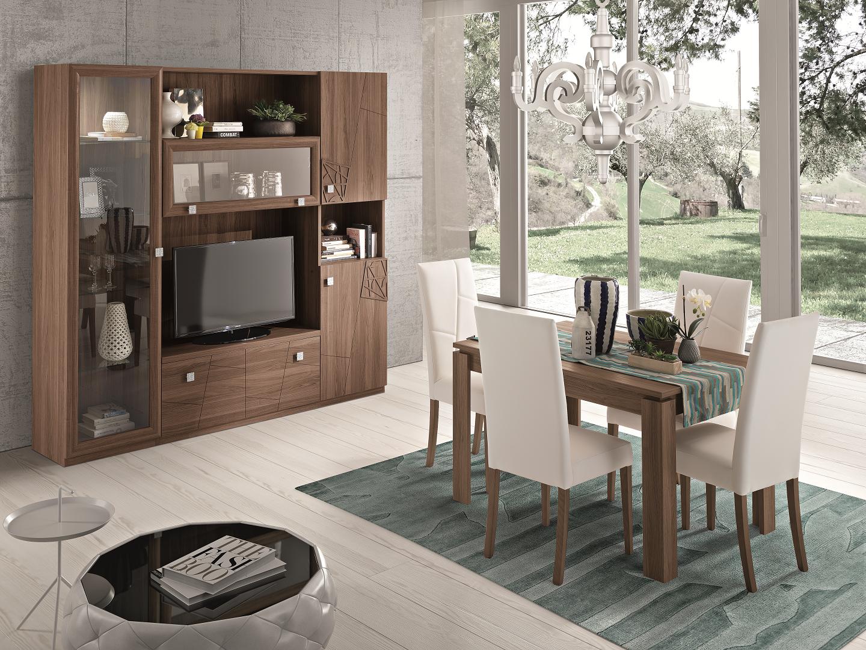 Mobilier modern din lemn de nuc personalizabil pentru living