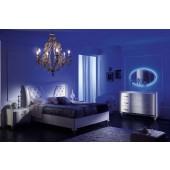 "Dormitor italian modern ""Il Principe"" (pat, dressing/sifonier, comoda dressing cu oglinda, noptiere)"