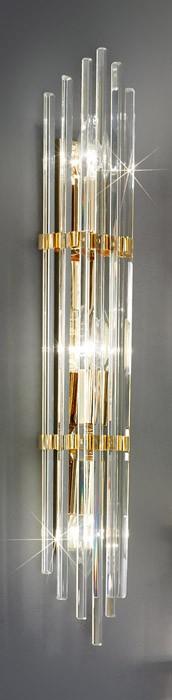 Aplica de perete austriaca de cristal, Ontario, suspendata, placata cu aur
