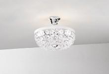 Lampa de plafon, din cristal, placaj crom,