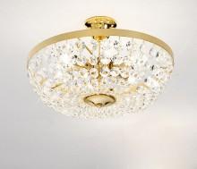 Lampa austriaca de plafon, placaj aur