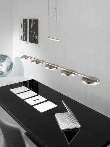 Lustra moderna si artistica de birou, placata cu nichel, lumina LED