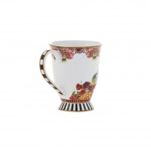 Cana de ceai, desen cu flori mici, 100% portelan, 150 ml -> 45 Ron