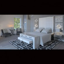 Proiect Realizat - Dormitor Monocrom Baneasa
