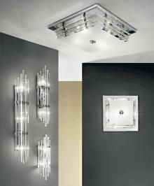 Lustra austriaca de cristal, Ontario, suspendata, placaj crom