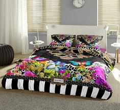 Lenjerii de pat, pernute decorative si prosoape de plaja marca Caraibeana Melli Mello